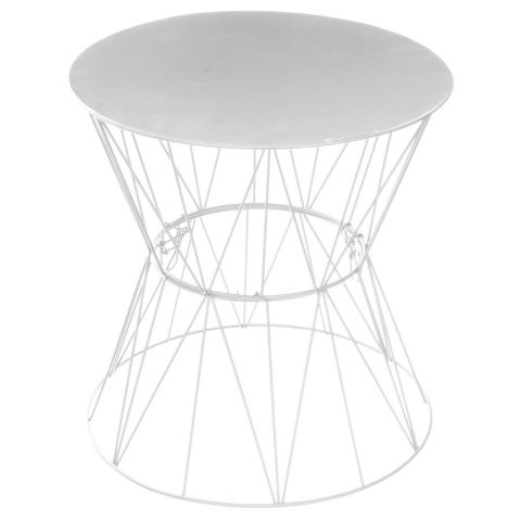 "Table d'Appoint Design ""Jym"" 40cm Gris"
