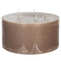 "Bougie Ronde ""Rustic"" 20cm Taupe"