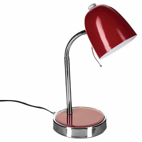 lampe de bureau m tal skippy 36cm rouge. Black Bedroom Furniture Sets. Home Design Ideas