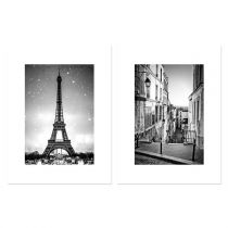 "Lot de 2 Affiches Murales City ""Paris"" 30x40cm"