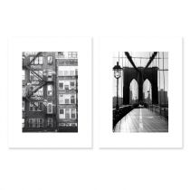 "Lot de 2 Affiches Murales City ""New York II"" 30x40cm"