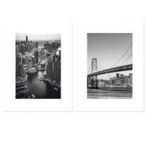 "Lot de 2 Affiches Murales City ""San Fransisco"" 30x40cm"