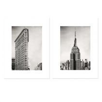 "Lot de 2 Affiches Murales City ""New York I"" 30x40cm"