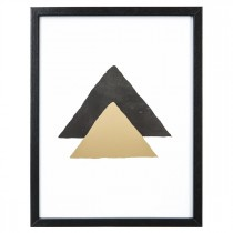 """Cadre Déco Mood """"Triangle"""" 31cm Or"""