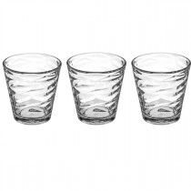 "Lot de 3 Gobelets en Verre ""Origami"" 24,5cl Transparent"
