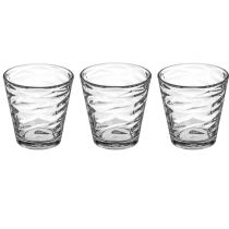 "Lot de 3 Gobelets en Verre ""Origami"" 24cl Transparent"