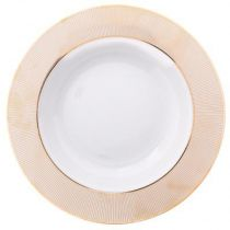 "Lot de 6 Assiettes Plates ""Alma"" 27cm Or"