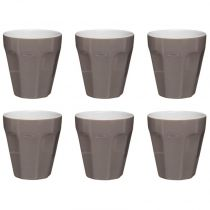 "Lot de 6 Tasses ""Espresso"" 12cl Taupe"