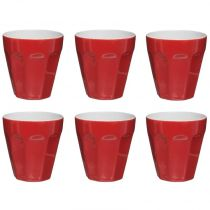 "Lot de 6 Tasses ""Espresso"" 12cl Rouge"