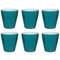 "Lot de 6 Tasses ""Espresso"" 12cl Bleu"