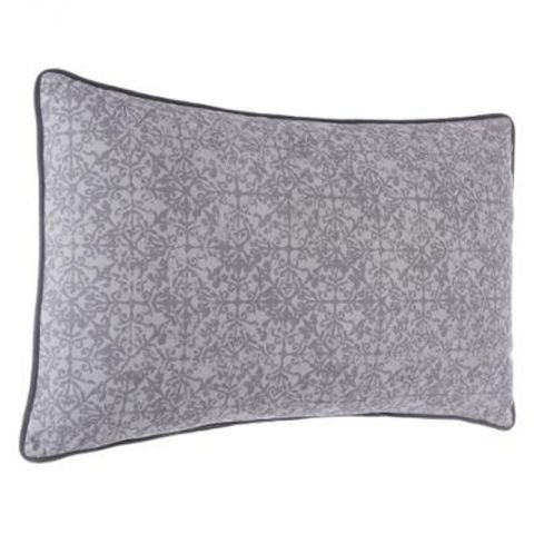 coussin en velours mood 50x30cm gris. Black Bedroom Furniture Sets. Home Design Ideas