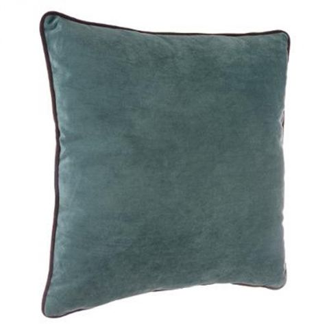 coussin en velours mood 40x40cm bleu. Black Bedroom Furniture Sets. Home Design Ideas