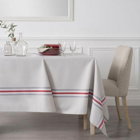 "Nappe Rectangulaire ""Tradition"" 240x140cm Gris"