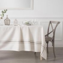 "Nappe Rectangulaire ""Tradition"" 240x140cm Blanc"