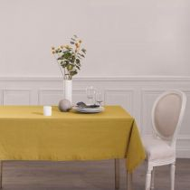 "Nappe Rectangulaire ""Chambray"" 140x240cm Ocre"