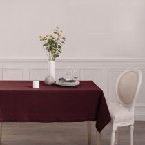 "Nappe Rectangulaire ""Chambray"" 140x240cm Berry"