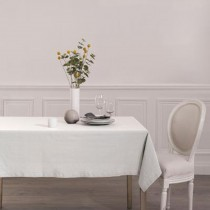 "Nappe Rectangulaire ""Chambray"" 140x240cm Blanc"