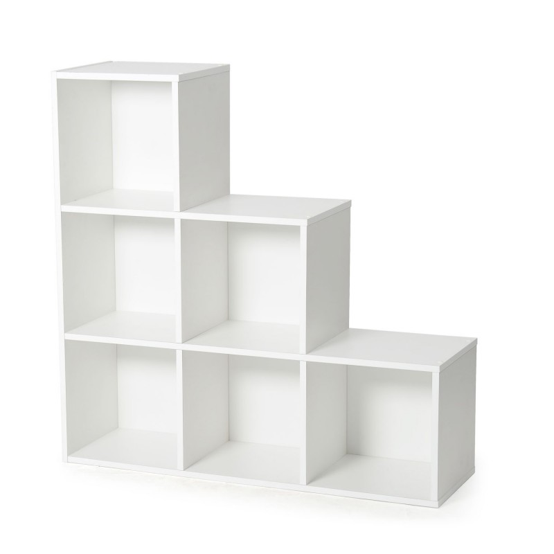 biblioth que 6 cases malt 94cm blanc. Black Bedroom Furniture Sets. Home Design Ideas