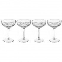 "Lot de 4 Coupes de Champagne ""Timeless"" 25cl Transparent"