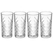 "Lot de 4 Verres à Whisky ""Timeless"" 45cl Transparent"