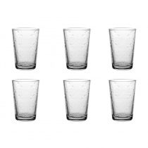 "Lot de 6 Gobelets en Verre ""Younca"" 20cl Transparent"