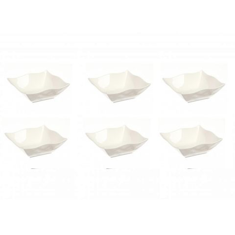 "Lot de 6 Coupelles ""Onde"" 11cm Blanc"