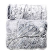 "Plaid Imitation Fourrure ""Antartic"" 180x220cm Gris"