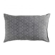 "Coussin Rectangulaire ""Optic"" 30x50cm Gris"