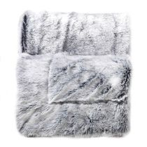 "Plaid Imitation Fourrure ""Antartic"" 125x150cm Gris"