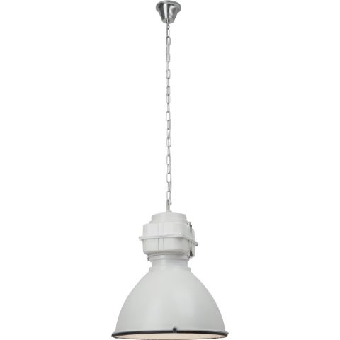 "Lampe Suspension Industriel ""Boston"" 47cm Blanc"