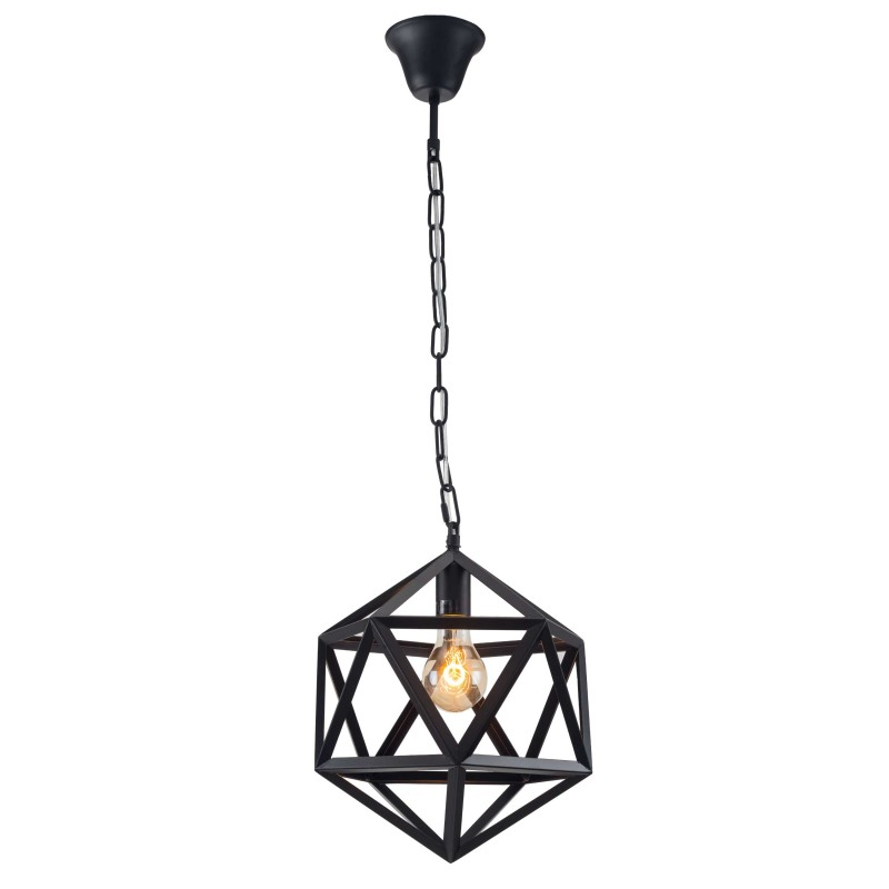 lampe suspension m tal atom 30cm noir. Black Bedroom Furniture Sets. Home Design Ideas