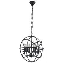 "Lampe Suspension Métal ""Atom"" 41cm Noir"