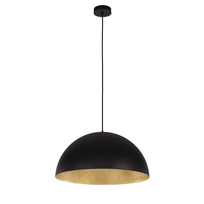 lampe suspension design tuba 35cm noir or. Black Bedroom Furniture Sets. Home Design Ideas