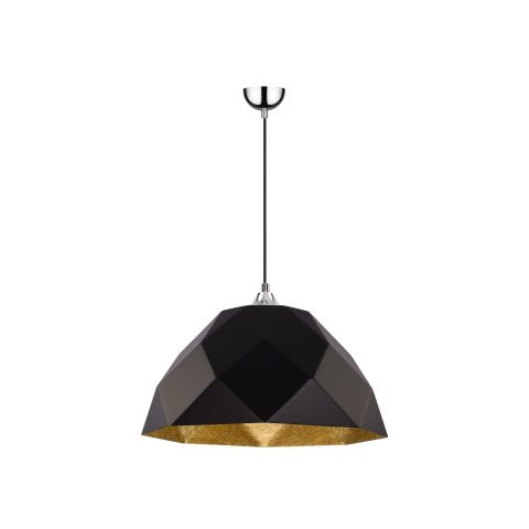 Lampe suspension moderne rich 50cm noir or for Suspension moderne noir