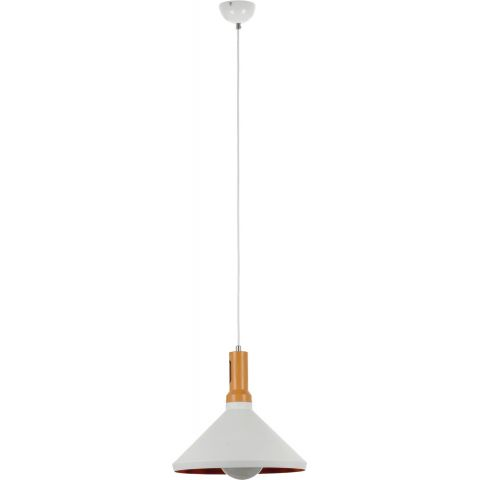 Lampe suspension design selene 34cm blanc for Lampe suspension design