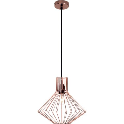 Lampe suspension design flavia 30cm cuivre for Lampe suspension design