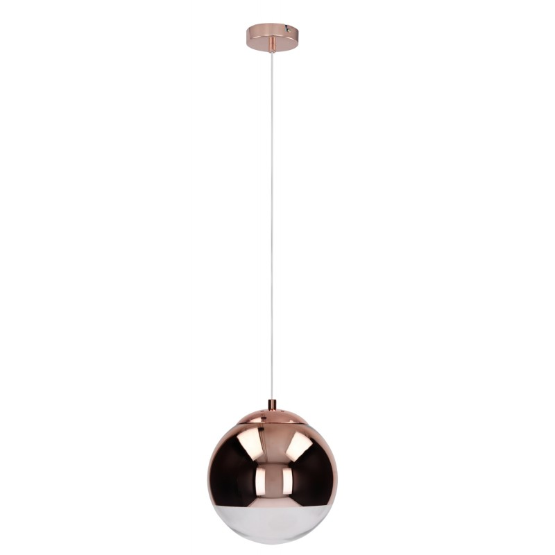 lampe suspension boule gino 20cm cuivre. Black Bedroom Furniture Sets. Home Design Ideas