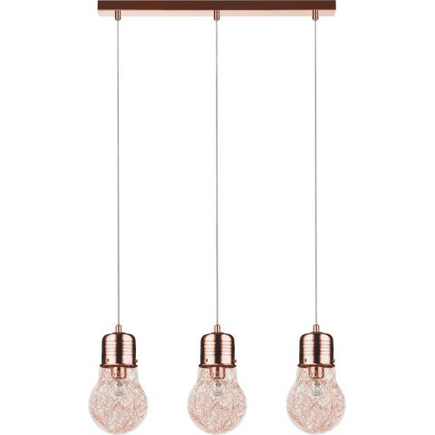 lampe suspension 3 t tes bulb 60cm cuivre. Black Bedroom Furniture Sets. Home Design Ideas