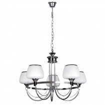 "Lustre Suspension 5 Têtes ""Ronda"" 54cm Chrome"