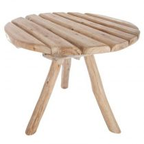 "Table en Chêne Scandinave ""Hiwa"" 65cm Naturel"