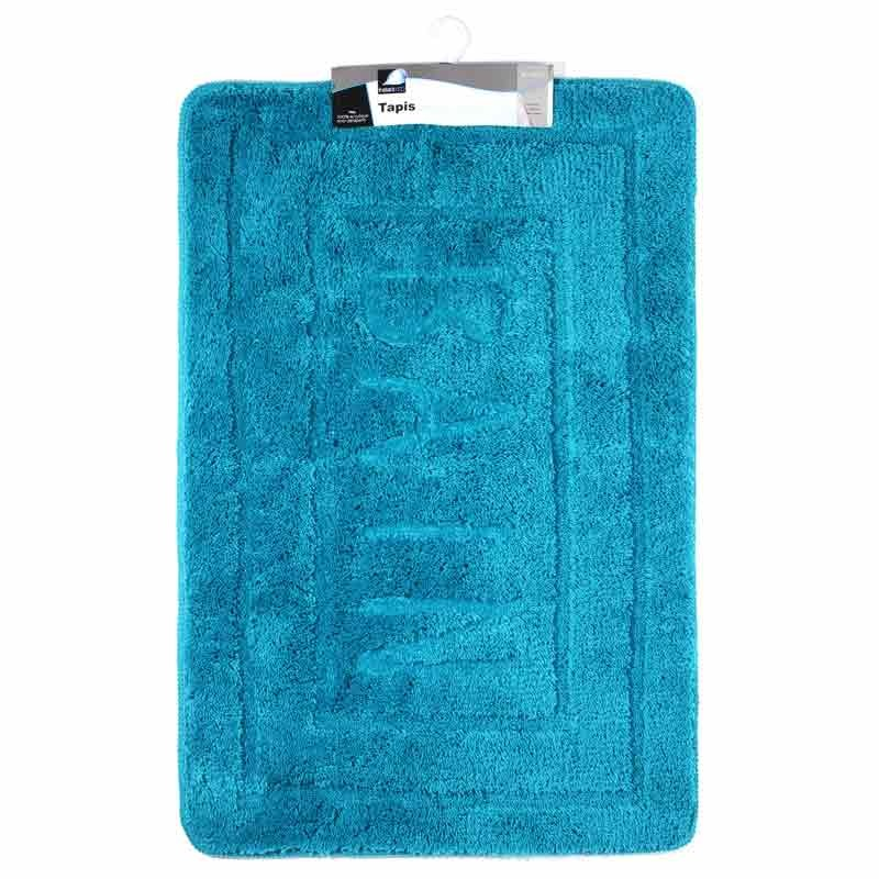tapis de salle de bain 60x90 cm turquoise. Black Bedroom Furniture Sets. Home Design Ideas