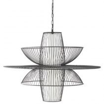 "Lampe Suspension en Métal ""Air"" 59cm Noir"