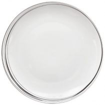 "Lot de 6 Assiettes Plates ""Soft Grey"" 27cm Blanc"