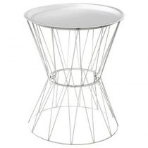 "Table d'Appoint Design ""Kate"" 52cm Blanc"