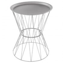 "Table d'Appoint Design ""Kate"" 52cm Gris"