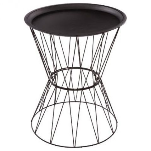 "Table d'Appoint Design ""Kate"" 52cm Noir"