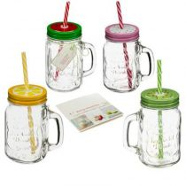 "Lot de 4 Chopes en Verre ""Smoothie""' 8cm Transparent"