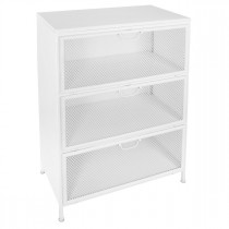 "Commode 3 Portes ""Theron"" 102cm Blanc"