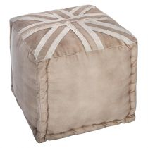 "Pouf Carré ""London"" 40cm Beige"