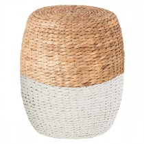 """Table d'Appoint """"Seagrass"""" 40cm Blanc"""